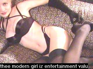 (Untitled) thee moderngrrl iz entertainment valu series (1997-98). Online photograph. Image source: Anacam, [anacam.com].