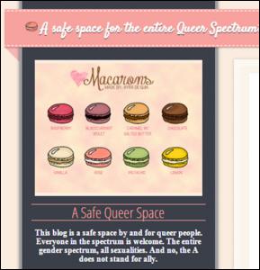 Queer Voices. Tumblr blog. [queer-voices.tumblr.com/].